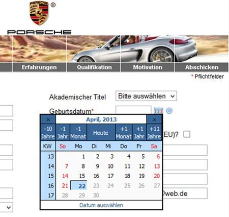 nach den online eingaben kann man seine bewerbung hochladen zum schluss kommt eine berblicksseite dann schickt man seine bewerbung ab und erhlt - Bewerbung Porsche